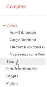 Google Account Sécurité