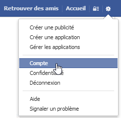 Facebook — Nettoyer vos applications — Compte