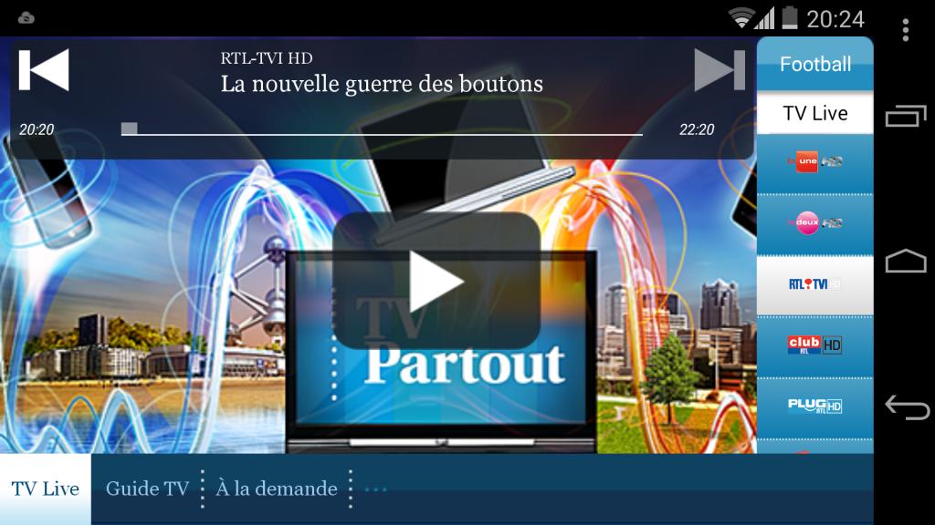 Belgacom TV Replay Android