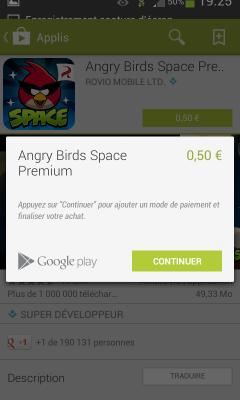 Paiement Google Play