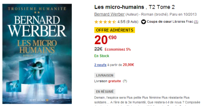 Bernard Werber - Les micro humains - Fnac