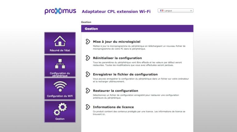 Extender Wifi Gestion